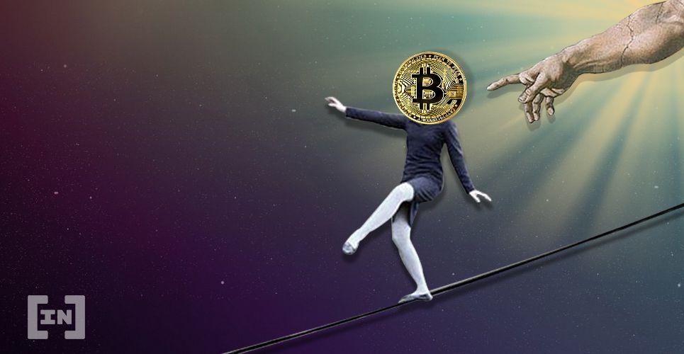 Der Bitcoin ist ein Drahtseilakt.
