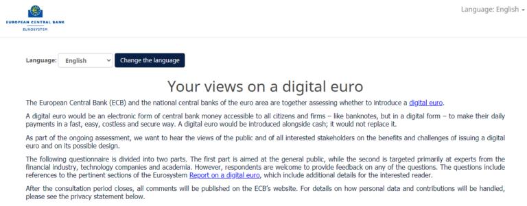 EZB Umfrage.