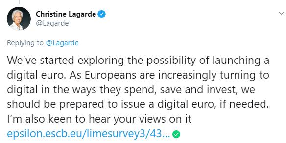Lagarde Twitter.