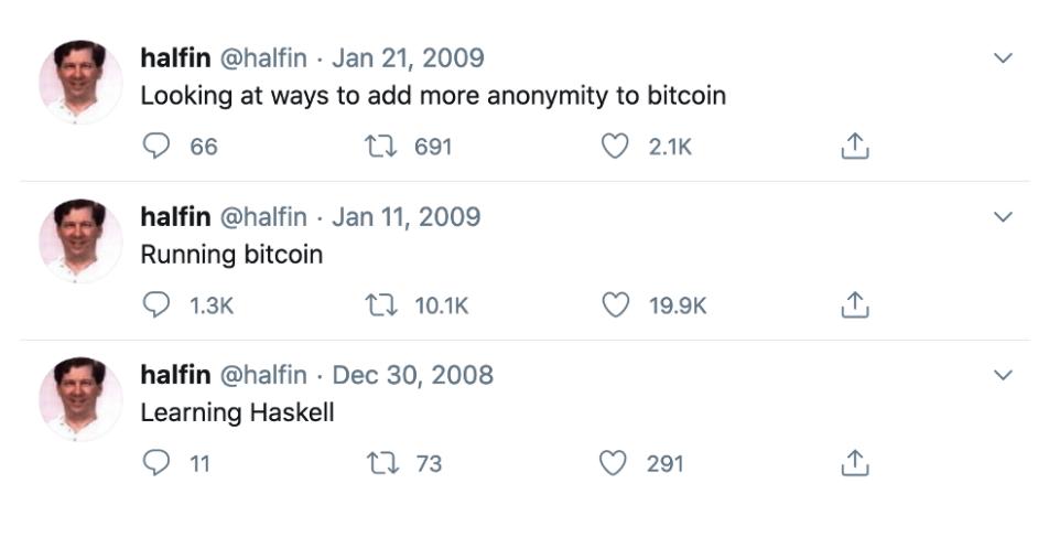 Hal Finney auf Twitter